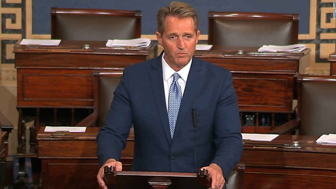 Jeff Flake's 9 toughest hits on Trump