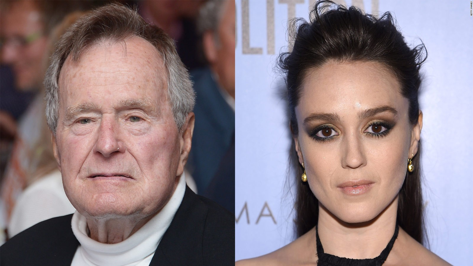 George H W Bush Responds After Actress Accuses Him Of Sexual