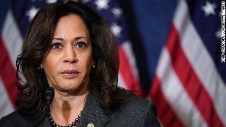 WASHINGTON, DC - OCTOBER 25:  Sen. Kamala Harris (D-CA) speaks during a news conference with fellow Democrats, 'Dreamers' and university presidents and chancellors to call for passage of the Dream Act at the U.S. Capitol October 25, 2017 in Washington, DC. (Chip Somodevilla/Getty Images)