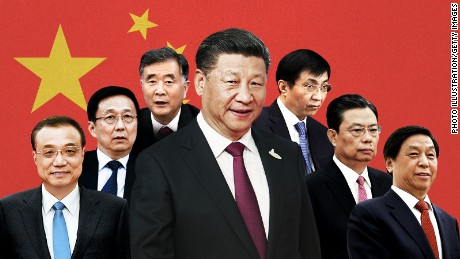 All men and all over 60: Meet China's new ruling line-up