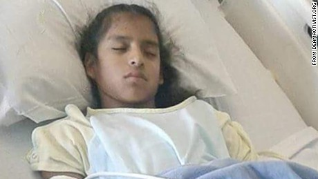 Rosa Maria Hernandez, 10, was taken into CBP custody after officers waited for her following emergency surgery