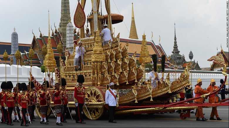 Thai king's lavish cremation ceremony