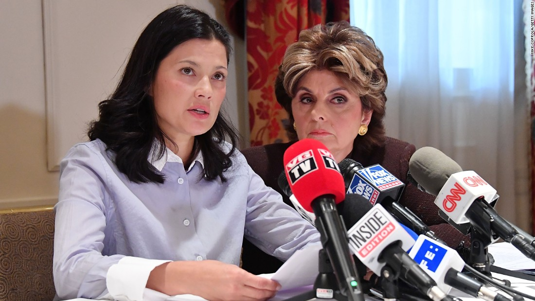 "Norwegian model and actress Natassia Malthe, left, is joined by attorney Gloria Allred during a news conference in New York City on Wednesday, October 25. Malthe has accused film producer Harvey Weinstein of rape, adding to the list of <a href=""http://money.cnn.com/2017/10/11/media/harvey-weinstein-scandal/index.html"" target=""_blank"">women who have come forward</a> to accuse Weinstein of inappropriate behavior. Weinstein was fired from The Weinstein Company following an extensive <a href=""https://www.nytimes.com/2017/10/10/us/gwyneth-paltrow-angelina-jolie-harvey-weinstein.html"" target=""_blank"">New York Times report</a> that detailed allegations spanning decades. A spokeswoman for Weinstein has said that ""any allegations of non-consensual sex are unequivocally denied by Mr. Weinstein."""
