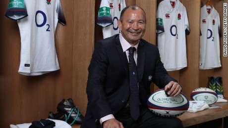 LONDON, ENGLAND - OCTOBER 26:  Eddie Jones, the England head coach poses at the Old Mutual Wealth Series England senior squad annoucement at The Millennium Bridge on October 26, 2017 in London, England.  (Photo by David Rogers/Getty Images for Old Mutual Wealth)