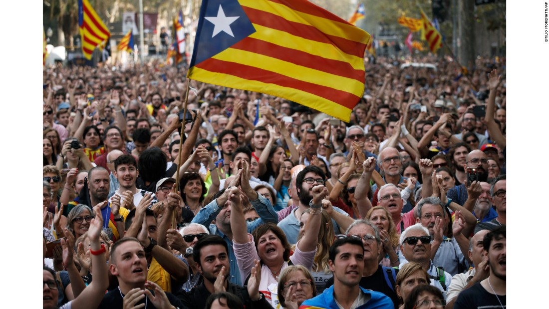 Catalonia government dissolved after declaring independence from Spain
