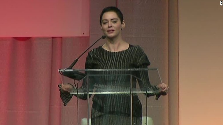 Rose McGowan makes first public remarks since accusing Harvey Weinstein of rape