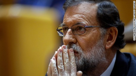 Spain's Prime Minister Mariano Rajoy has vowed to crush the Catalan independence bid.