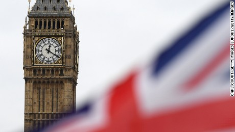 LONDON, ENGLAND - MARCH 29: The time 12:20pm shows on Big Ben on March 29, 2017 in London, England. The British Prime Minister Theresa May addresses the Houses of Parliament as Article 50 is triggered and the process that will take the United Kingdom out of the European Union begins.  (Photo by Carl Court/Getty Images)