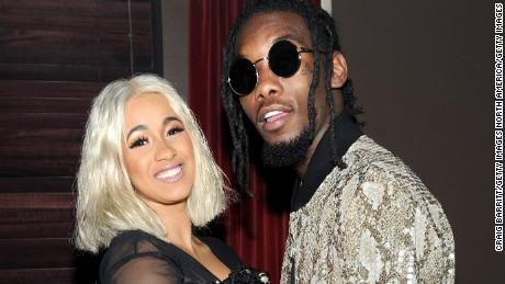 NEW YORK, NY - SEPTEMBER 12:  Cardi B (L) and Offset attend NYLON's Rebel Fashion Party, powered by Land Rover, at Gramercy Terrace at Gramercy Park Hotel on September 12, 2017 in New York City.  (Photo by Craig Barritt/Getty Images)