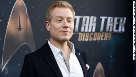 "Anthony Rapp at the premiere of the TV series ""Star Trek: Discovery"" in Los Angeles on September 19."