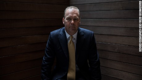 Rick Gates, a protege and junior partner of Paul Manafort, Donald Trump's former campaign manager, in New York, April 24, 2017. A Trump campaign lawyer ordered transition team staffers to preserve records relating to Gates, a sign that he is a person of interest in the burgeoning federal investigation of dealings between the president's inner circle and Russia. (Damon Winter/The New York Times)