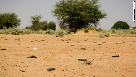 Bullet casings litter the ground near Tongo Tongo.