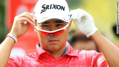 SHANGHAI, CHINA - OCTOBER 27:  Hideki Matsuyama of Japan puts on his glasses on the first hole during the second round of the WGC - HSBC Champions at Sheshan International Golf Club on October 27, 2017 in Shanghai, China.  (Photo by Andrew Redington/Getty Images)