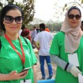 Erbil International Marathon women green shirt