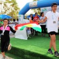 Erbil International Marathon finish line