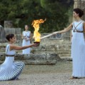 Olympic flame at the Temple of Hera  pyeongchang 2018 winter olympics