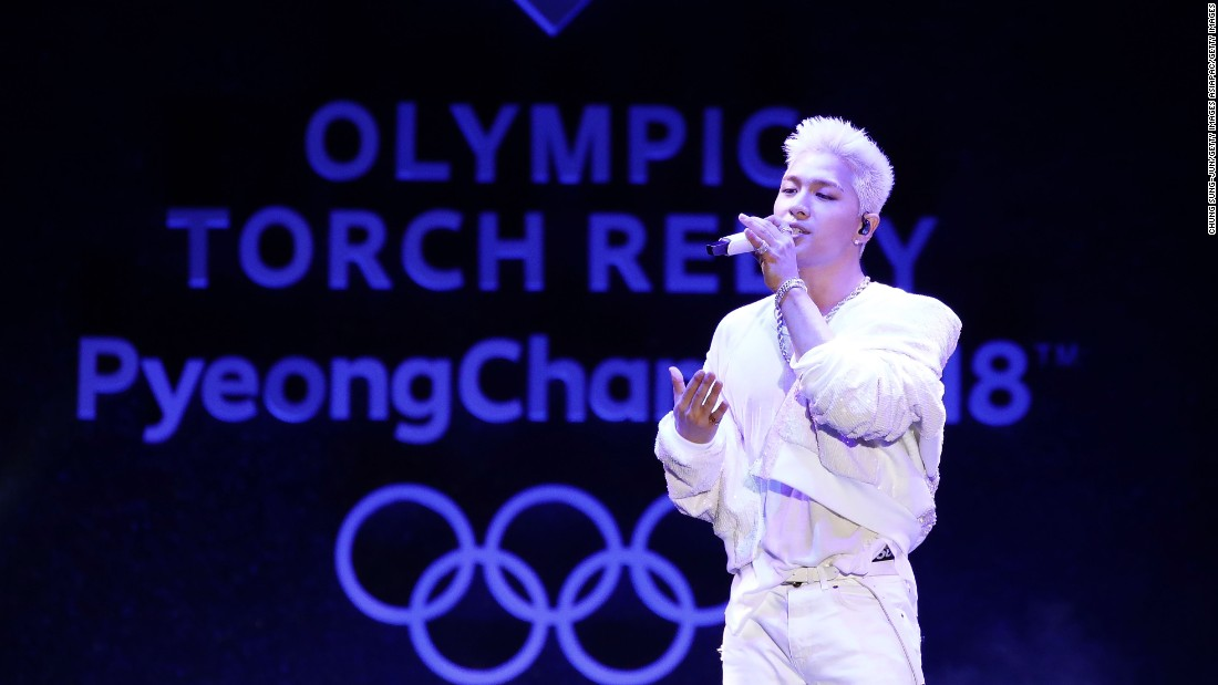 "A ceremony to mark the flame's arrival featured K-pop sensation Taeyang, an <a href=""http://edition.cnn.com/2017/06/21/sport/big-bang-taeyang-south-korea-pyeongchang-winter-olympics/index.html"">honorary ambassador f</a>or next year's Winter Games."