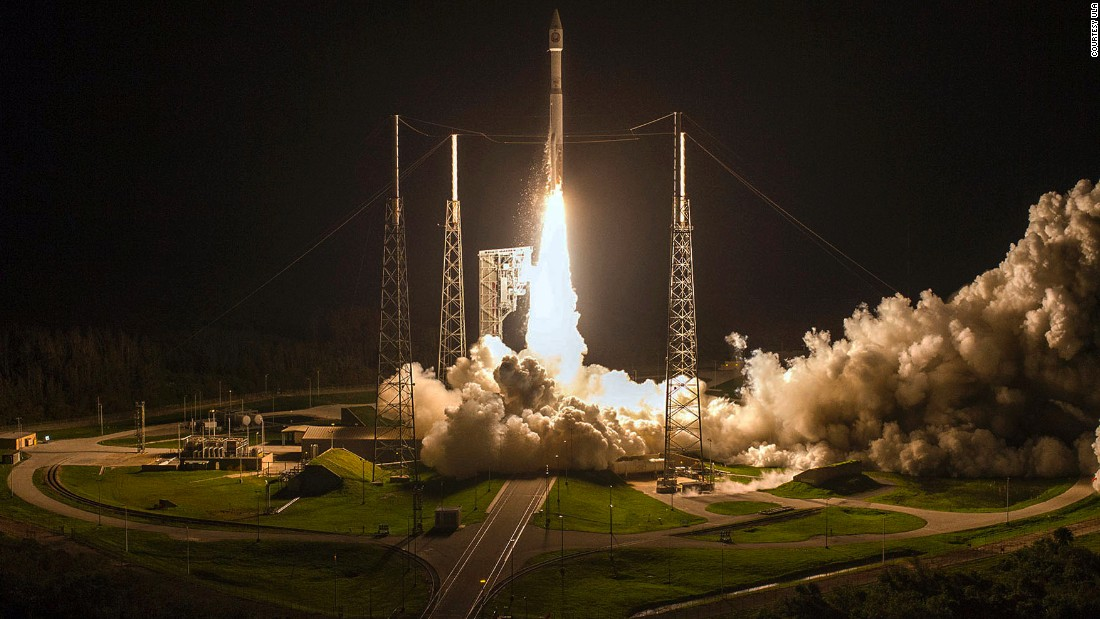 "A rocket<a href=""https://www.space.com/38364-atlas-v-rocket-launches-spy-satellite-nrol-52.html"" target=""_blank""> carrying a classified spy satellite</a> is launched from Florida's Cape Canaveral Air Force Station on Sunday, October 15."