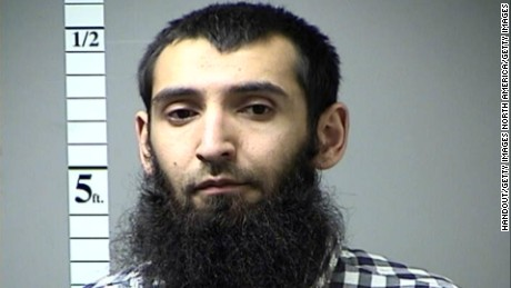 MISSOURI - In this handout photo provided by the St. Charles County Department of Corrections, Sayfullo Saipov poses for a booking photo after a previous arrest in Missouri. Saipov was arrested after allegedly driving a pickup truck on a bike path in lower Manhattan, killing 8 peple and injuring 12 on October 31, 2017. (Photo by St. Charles County Department of Corrections via Getty Images)