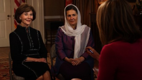Laura Bush, Afghan first lady full interview