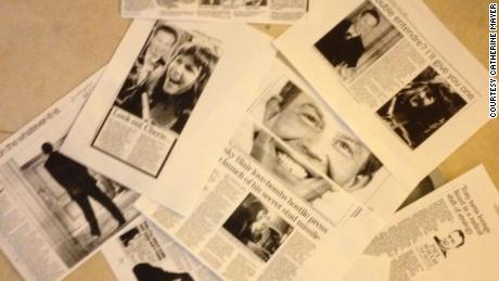 Cuttings from British newspapers following the press conference with Tony Blair.