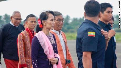 Myanmar's Suu Kyi visits Rakhine State for first time since mass exodus