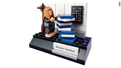 The Lego figurine of Margaret Hamilton, whose work helped put the first people on the moon.