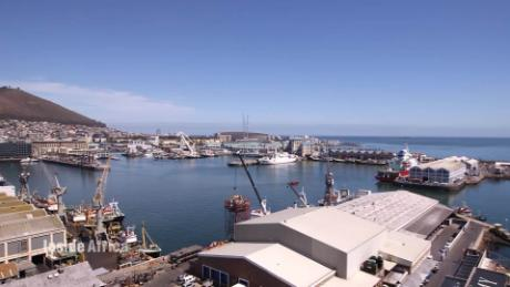 Cape Town's beautiful waterfront harbor
