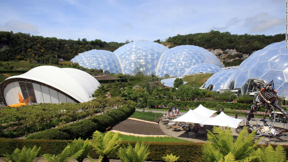The Eden Project in Cornwall is a popular UK tourist attraction. Opened in March 2001, it claims to be home to the world's largest indoor rainforest.