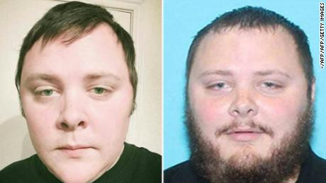 These two images widely distributed on social networks on November 06, 2017, allegedly show 26-year-old Devin Kelley who walked into the church in Sutherland Springs with an assault rifle on November 05, killing 26 people and wounding 20 more.     Sunday's carnage in Sutherland Springs, a rural community of some 400 people southeast of San Antonio, came just five weeks after the worst gun massacre in modern US history, when a gunman killed 58 people at an open-air concert in Las Vegas. / AFP PHOTO / OFF / - / RESTRICTED TO EDITORIAL USE -  NO MARKETING - NO ADVERTISING CAMPAIGNS - DISTRIBUTED AS A SERVICE TO CLIENTS  -/AFP/Getty Images
