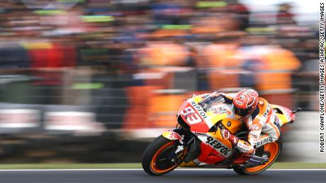 Marquez leads the Australia GP on Phillip Island.