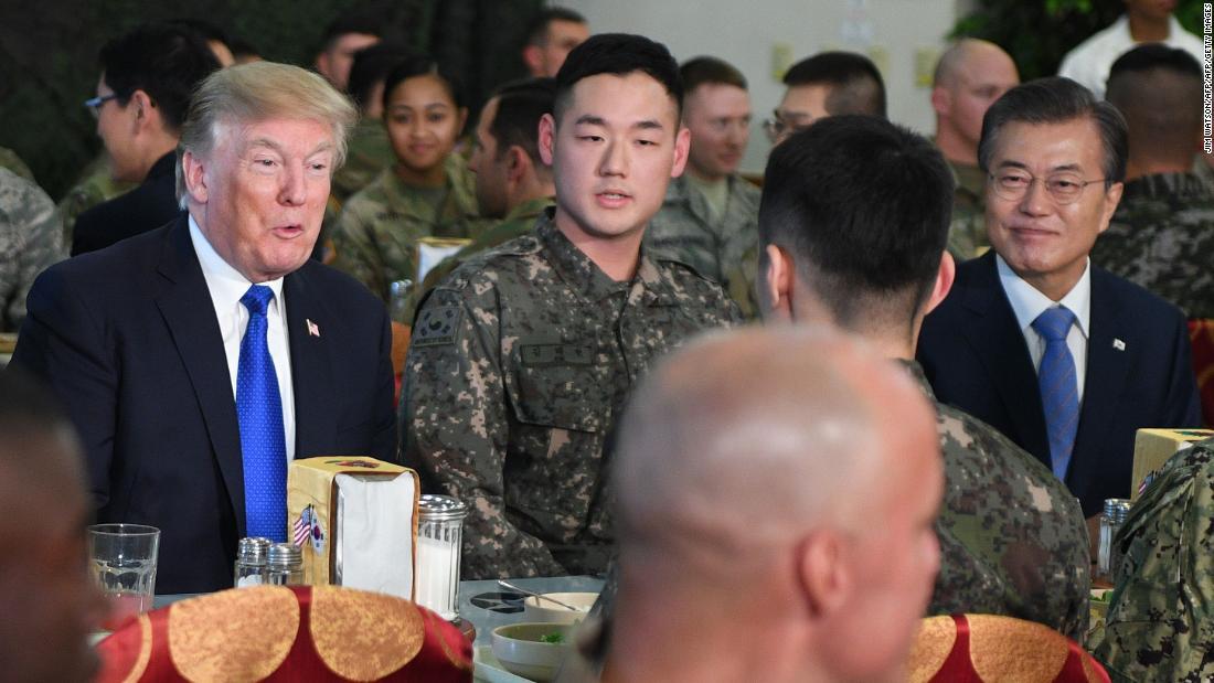 Trump strikes optimistic tone on North Korea
