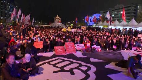 south korea trump protests trip hancocks lklv_00002220