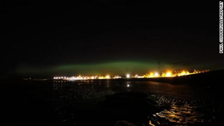 NS Slug: SCOTLAND NORTHERN LIGHTS TUESDAY  Synopsis: The Northern lights over Scotland as witnessed by the lense of Paul Sommerville  Video Shows: - northern lights over Scotland.     Keywords: INTERNATIONAL SCOTLAND UK NATURE SCIENCE PHOTOGRAPHY