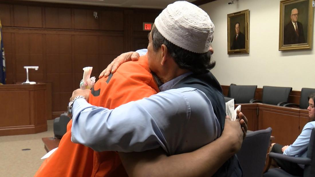 Father forgives and hugs man involved in his son's killing