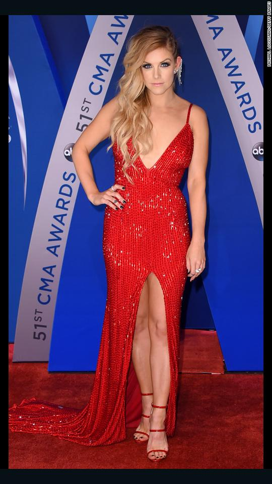 Lindsay Ell attends the 51st annual CMA Awards on Wednesday, November 8, in Nashville.