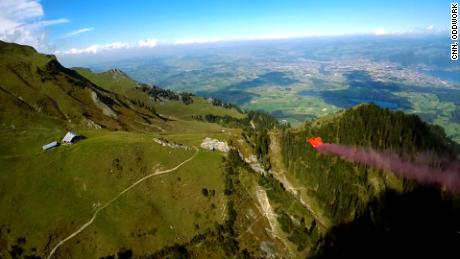 """Anton """"Squeezer"""" Andersson is a 25-year-old professional wingsuit pilot."""