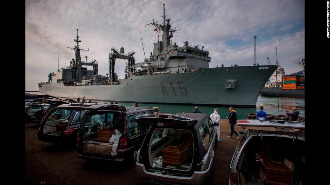 "Cantabria, a Spanish Navy ship, arrives in the port of Salerno, Italy, with about 400 rescued migrants on Sunday, November 5. The ship rescued the migrants two days earlier in the Mediterranean Sea. It also <a href=""http://www.cnn.com/2017/11/06/europe/26-teenage-migrants-dead-at-sea/index.html"" target=""_blank"">recovered some dead bodies.</a>"