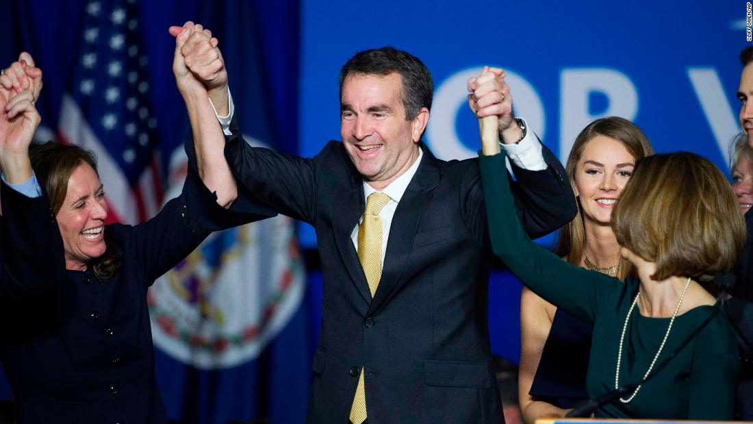 "Ralph Northam celebrates after winning Virginia's gubernatorial race on Tuesday, November 7. The Democrat defeated Ed Gillespie to succeed Gov. Terry McAuliffe. <a href=""http://www.cnn.com/2017/11/07/politics/2017-us-election-highlights/index.html"" target=""_blank"">Election 2017: Democrats sweep in Virginia, New Jersey</a>"