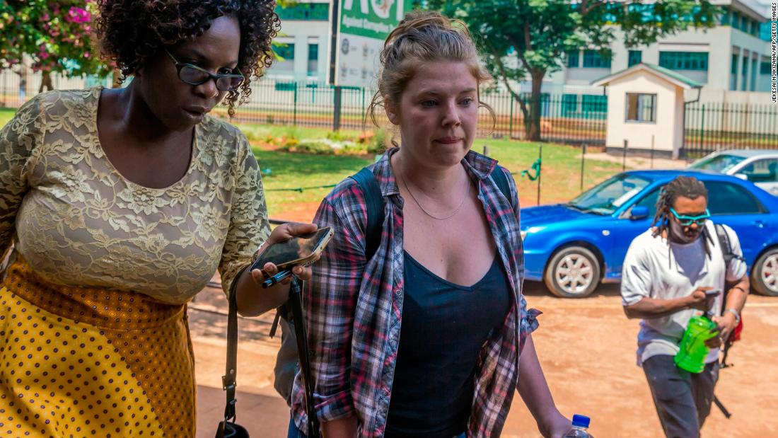 "Martha O'Donovan, center, arrives at a court in Harare, Zimbabwe, on Saturday, November 4. The American citizen is charged with subversion and undermining the authority of President Robert Mugabe. O'Donovan was detained after reportedly tweeting that Mugabe -- one of Africa's longest-serving leaders -- is ""a selfish and sick man."" <a href=""http://www.cnn.com/2017/11/09/africa/zimbabwe-american-citizen-mugabe-tweet/index.html"" target=""_blank"">She was granted bail</a> after a two-hour hearing on Thursday, November 9. Defense attorney Obey Shava welcomed the decision, saying the state case was weak and the charges ""concocted."""