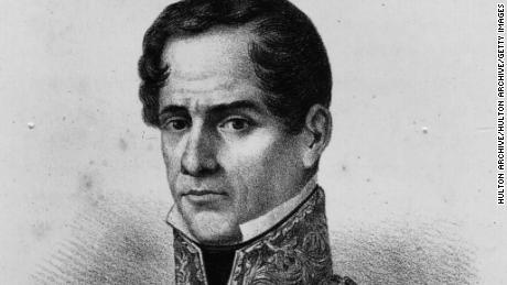 Mexican soldier, president and dictator Antonio Lopez de Santa Anna (1797 - 1876).   (Photo by Hulton Archive/Getty Images)