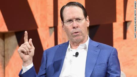 BEVERLY HILLS, CA - OCTOBER 04:  Chairman and CEO of AT&T Randall Stephenson speaks onstage during Vanity Fair New Establishment Summit at Wallis Annenberg Center for the Performing Arts on October 4, 2017 in Beverly Hills, California.  (Photo by Matt Winkelmeyer/Getty Images)