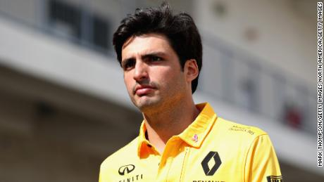 AUSTIN, TX - OCTOBER 19: Carlos Sainz of Spain and Renault Sport F1 walks in the Paddock during previews ahead of the United States Formula One Grand Prix at Circuit of The Americas on October 19, 2017 in Austin, Texas.  (Photo by Mark Thompson/Getty Images)