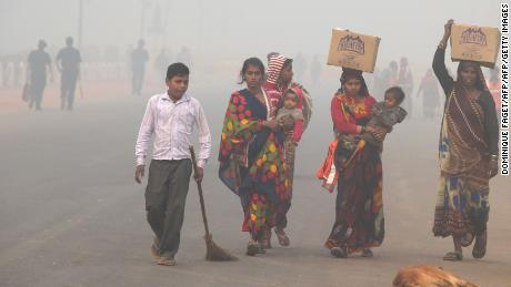 Many of Delhi's residents are either unaware of the dangers of breathing in polluted air, or are unable to afford masks and other protective measures.