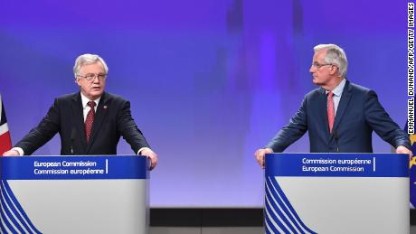 David Davis and Michel Barnier say some progress but no major breakthrough has been made in the latest round of Brexit talks.