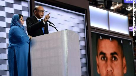 As their son's portrait flashed across the screen, Khizr and Ghazala Khan famously took on Donald Trump at the 2016 Democratic convention.