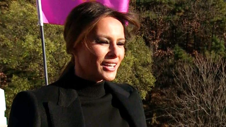 melania trump first lady great wall china bennett sot_00011024