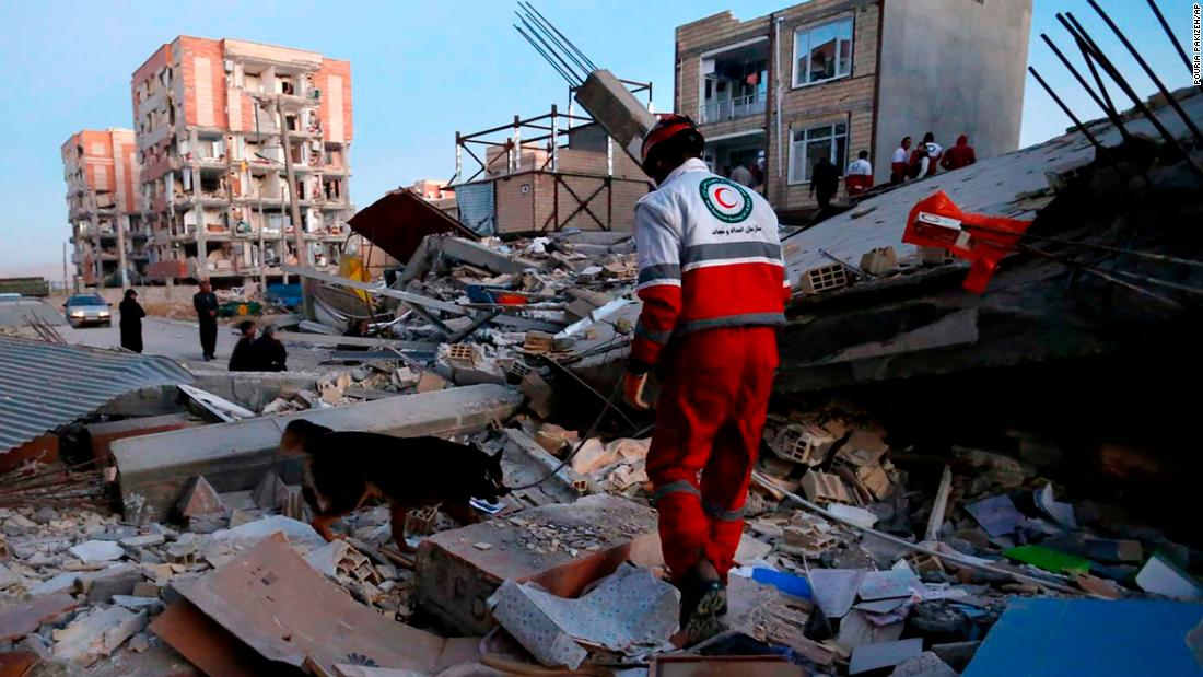 Moment Iran-Iraq earthquake struck