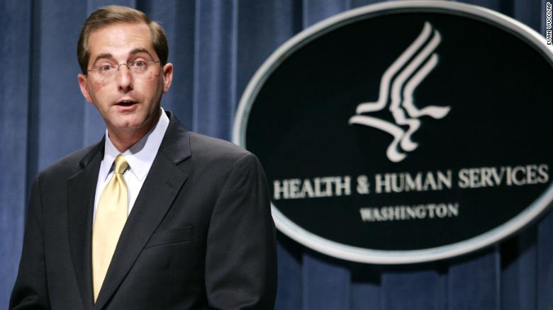 Trump selects Alex Azar to lead HHS
