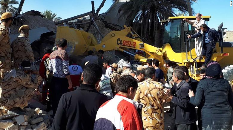 State media outlet IRNA publishes photos showing earthquake destruction in Kermanshah Province.
